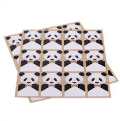 Sachet de 24 stickers Joli Panda