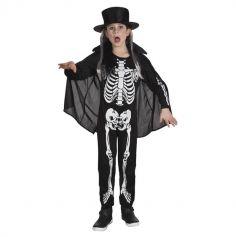 Déguisement Squelette avec Cheveux Garçon - Taille au Choix