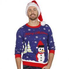 Pull de Noël - Adulte - Bonhomme de Neige - Taille au Choix