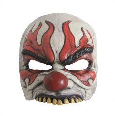 Demi Masque Latex Clown Enflammé - Enfant
