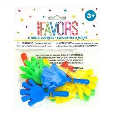 Sachet de 8 Claquettes à Mains - Multicolore | jourdefete.com