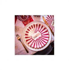 8 Assiettes en carton - Circus Vintage - 23 cm