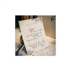 8 Cartes de souhaits Retraite Party - Beige, Or & Feuilles d'Olivier - 15 cm