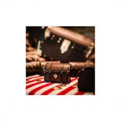 8 contenants Coffre au trésor - Pirate Kraft, Noir & Or - 8 cm