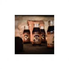 8 étiquettes adhésives pour bouteille - Pirate Kraft, Noir & Or - 19,5 cm