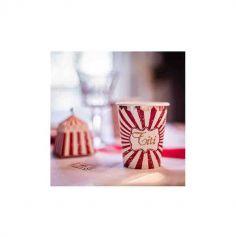 8 Gobelets en carton - Circus Vintage