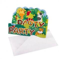 invitations-anniversaire-jungle-animaux|jourdefete.com