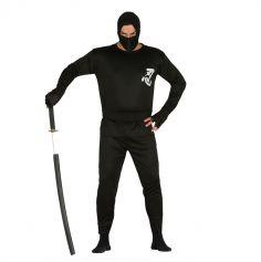 Déguisement de Ninja Noir Homme - Taille Unique