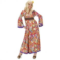 Robe Longue Colorée de Hippie Femme - Taille au Choix