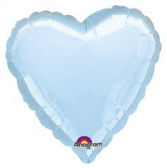 Ballon Hélium - Coeur Bleu Pastel