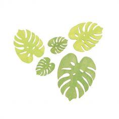 Sachet de 10 Confettis de table Feuilles de Palmier Bois - Vert