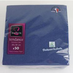 50 Serviettes Microgaufrées - Bleu Vif
