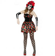 Robe Fleurie Day Of The Dead - Taille au choix