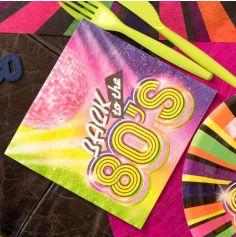 20 Serviettes en papier - Back to the 80's