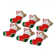 6 Chaussons de Noël Adhésifs