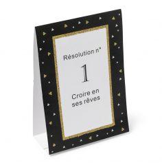 """10 Cartes de Table """"Résolutions"""""""