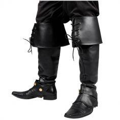 Couvre-bottes avec lacets - Noir