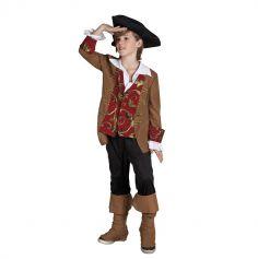 Déguisement du Capitaine Pirate Garçon - Taille au Choix
