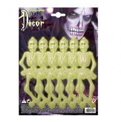 Sachet de 6 mini Squelettes Phosphorescents