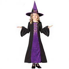 Costume Fille Sorcière colorée - Taille au choix
