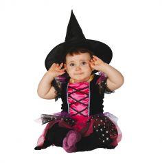 Déguisement de Petite Sorcière Rose d'Halloween - Taille au Choix