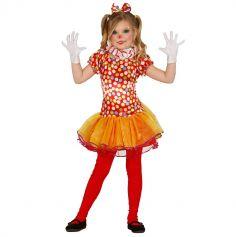 Déguisement de Clown Mime Fille - Taille au Choix