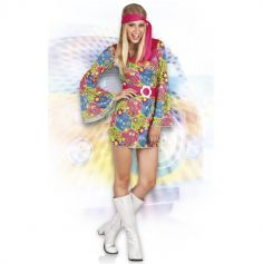 Costume Hippie - Robe Femme Taille Unique