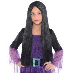 Perruque Fille - Cheveux Longs Noirs