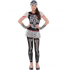 Déguisement Squelette Day Of The Dead Ado Fille - 14/16 ans