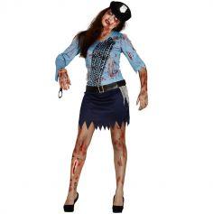Déguisement Policière Zombie Femme - Taille au Choix