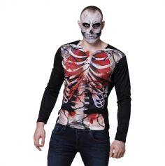 Tee-shirt Squelette pour Homme - Taille Unique