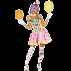Déguisement Clown Funny Femme - Taille au Choix