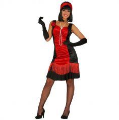 Robe de Charleston Noir et Rouge - Taille au choix