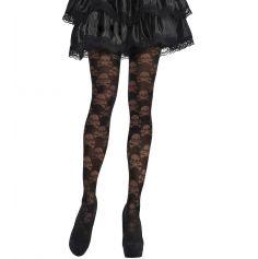 Collants Noirs Tête de Mort - Taille Unique