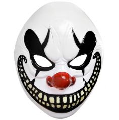 Masque de Clown Souriant en Plastique pour Halloween