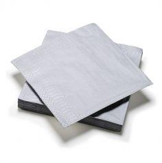20 Serviettes en Papier - Argent