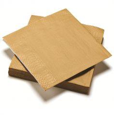20 Serviettes en Papier - Or