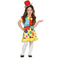 Déguisement Clown Multicolore Fille - Taille au Choix