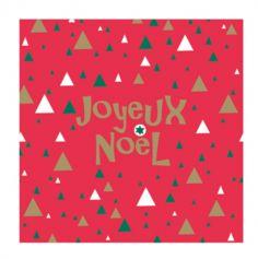 Sachet de 50 Serviettes en Papier - Noël - Joyeux Noël - Triangles
