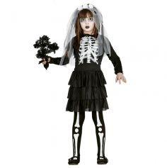 Déguisement Fille - Mariée Squelette - Taille au Choix