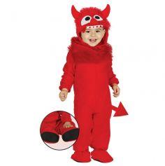 Déguisement Bébé - Petit Diable Rouge - Taille au Choix