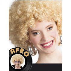 Perruque Disco Coupe Afro - Blond