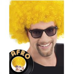 Perruque Disco Coupe Afro - Jaune