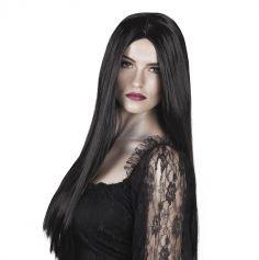 Perruque Sorcière Cheveux Longs Noirs