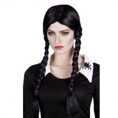 Perruque Gothique noire à nattes