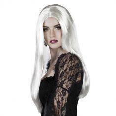 Perruque Longs Cheveux Blancs