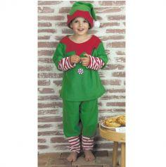 Déguisement Enfant - Lutin du Père Noël - Taille au Choix