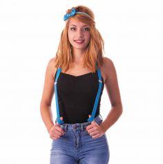 Bretelles Fluo - Bleu - Adulte