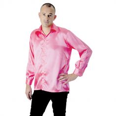 Chemise néon Disco Fluo - Rose