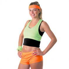 Mini Short Fluo Orange Femme - Taille Unique